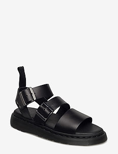 GRYPHON - płaskie sandały - black