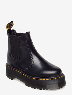 2976 Quad Black Polished Smooth - chelsea boots - black