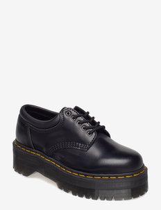 8053 Quad Black Polished Smooth - buty sznurowane - black