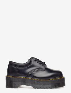 8053 Quad Black Polished Smooth - snörskor - black