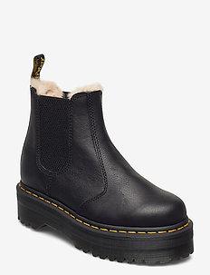 2976 Quad Fl Black Pisa - chelsea boots - black