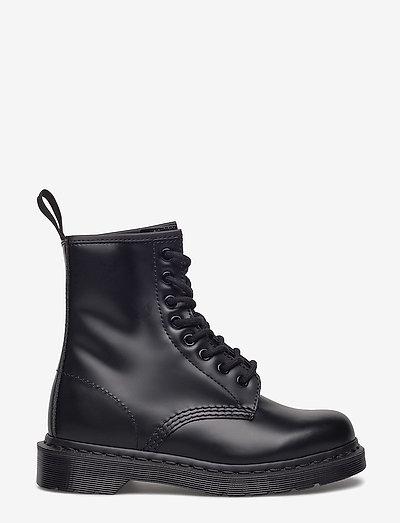 1460 Mono Black Smooth - platta ankelboots - black