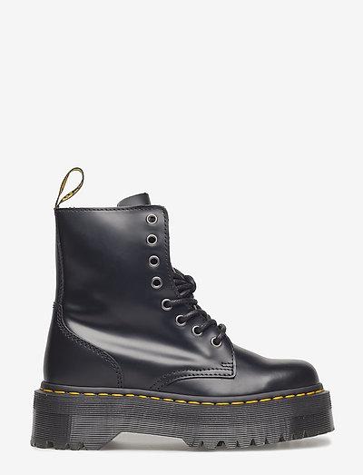 Jadon - platta ankelboots - black
