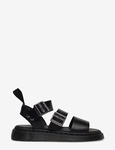 GRYPHON - platta sandaler - black
