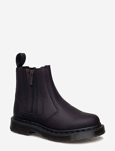 2976 Alyson W/Zips Black Snowplow Wp - platta ankelboots - black