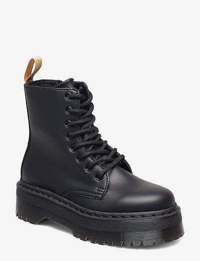 V Jadon Ii Mono Black Felix Rub Off - platta ankelboots - black