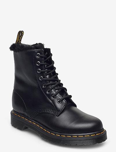 1460 Serena Dark Grey Atlas - flat ankle boots - dark grey