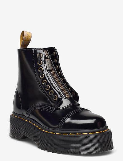 Vegan Sinclair Black Oxford - platta ankelboots - black
