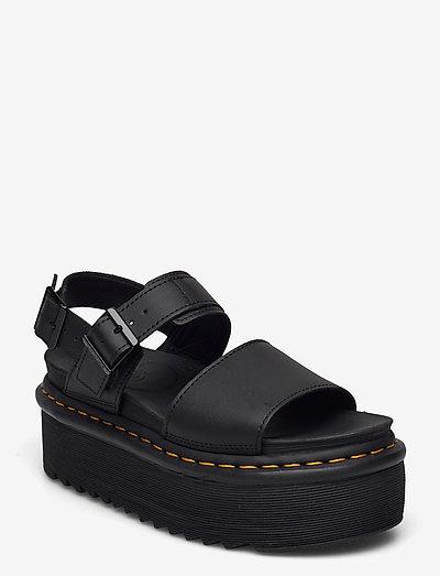 Voss Quad - platte sandalen - black