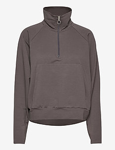 Essa Zipped Sweater - sweatshirts - ash grey