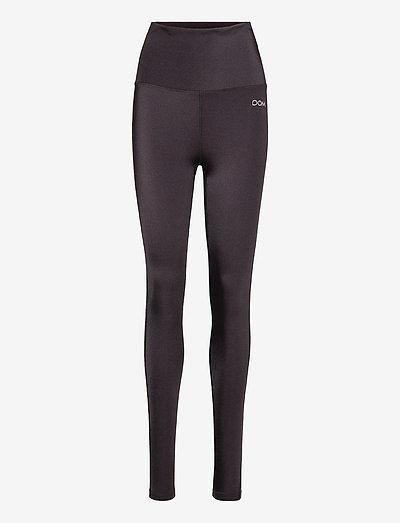 EDEN - running & training tights - dk brown  shine