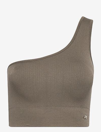 REBECKA - sport bras: medium support - khaki