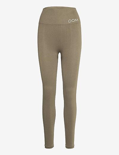 CORA - running & training tights - dark olive