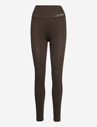 CORA - running & training tights - dark brown