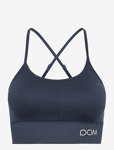 TRINITY - sport bras: medium support - dark blue