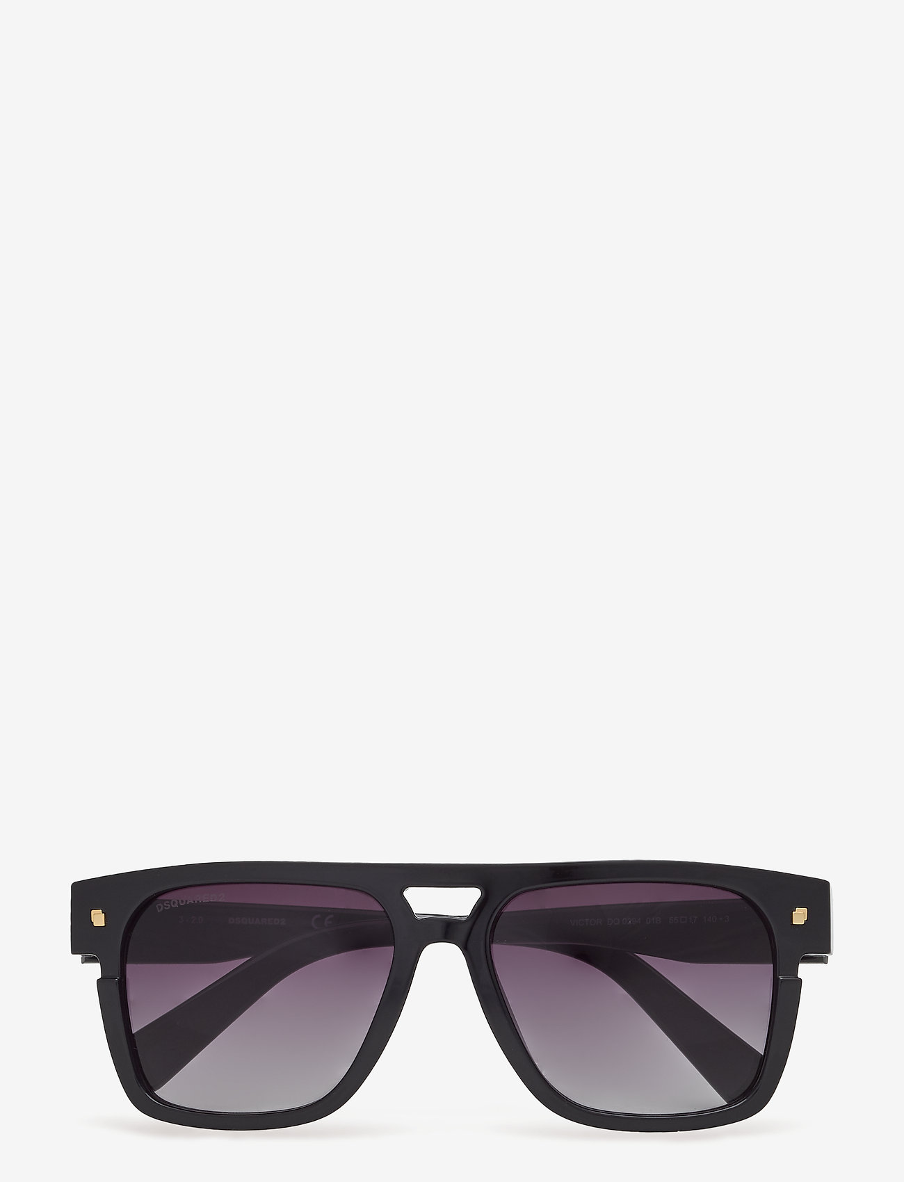 DSQUARED2 Sunglasses - Dsquared VICTOR - d-muotoiset - shiny black - 0