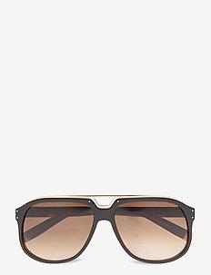 DQ0005 - d-vormige zonnebril - black