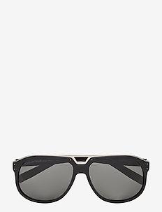 DQ0005 - d-vormige zonnebril - shiny black