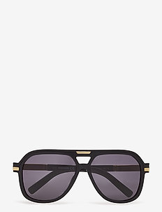 DQ0350 CHAD - piloten zonnebril - shiny black