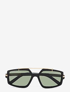 Hanke - d-shaped - shiny black  / green