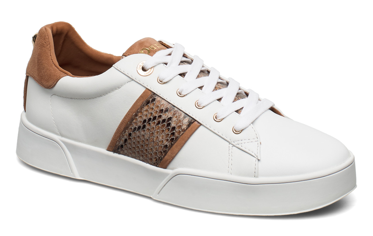 Dune London Elsie S - WHITE REPT_PRINT_LEATHER