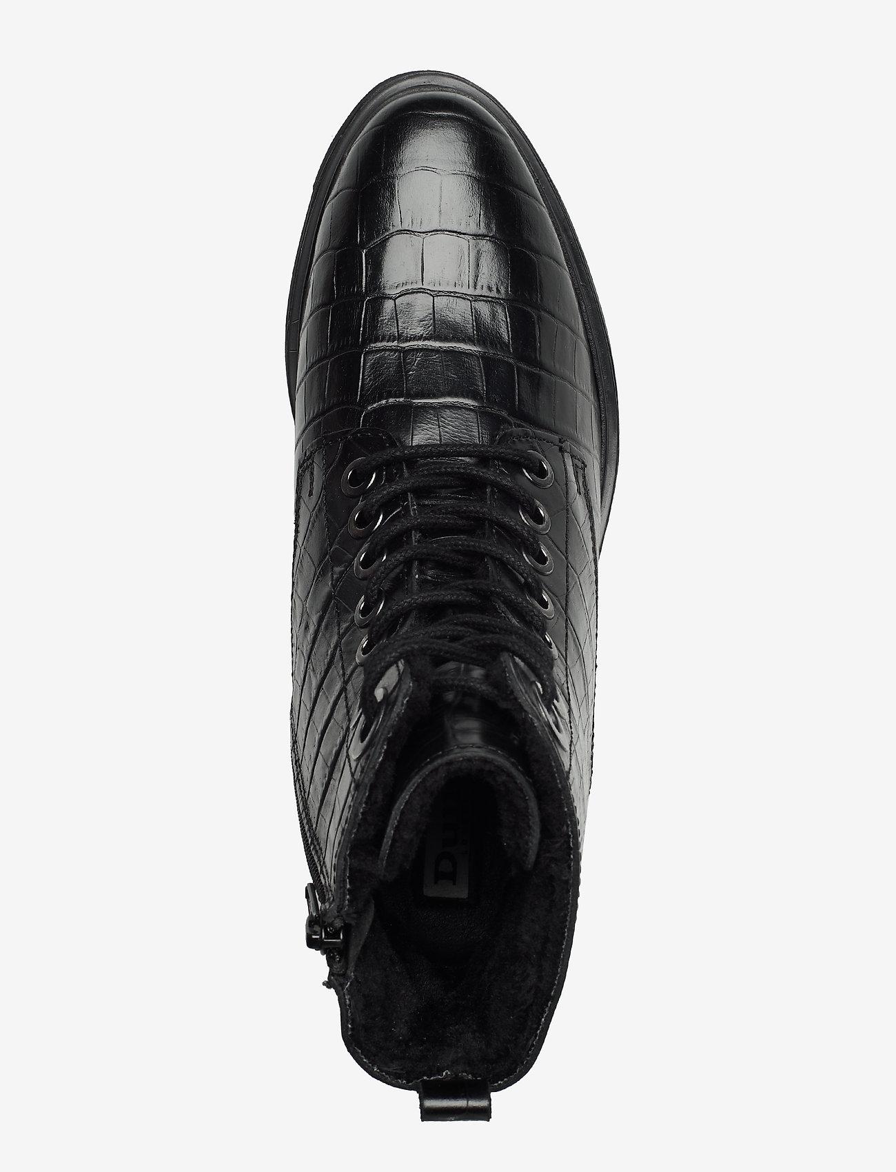 Parkland (Black-croc_print_leather) - Dune London
