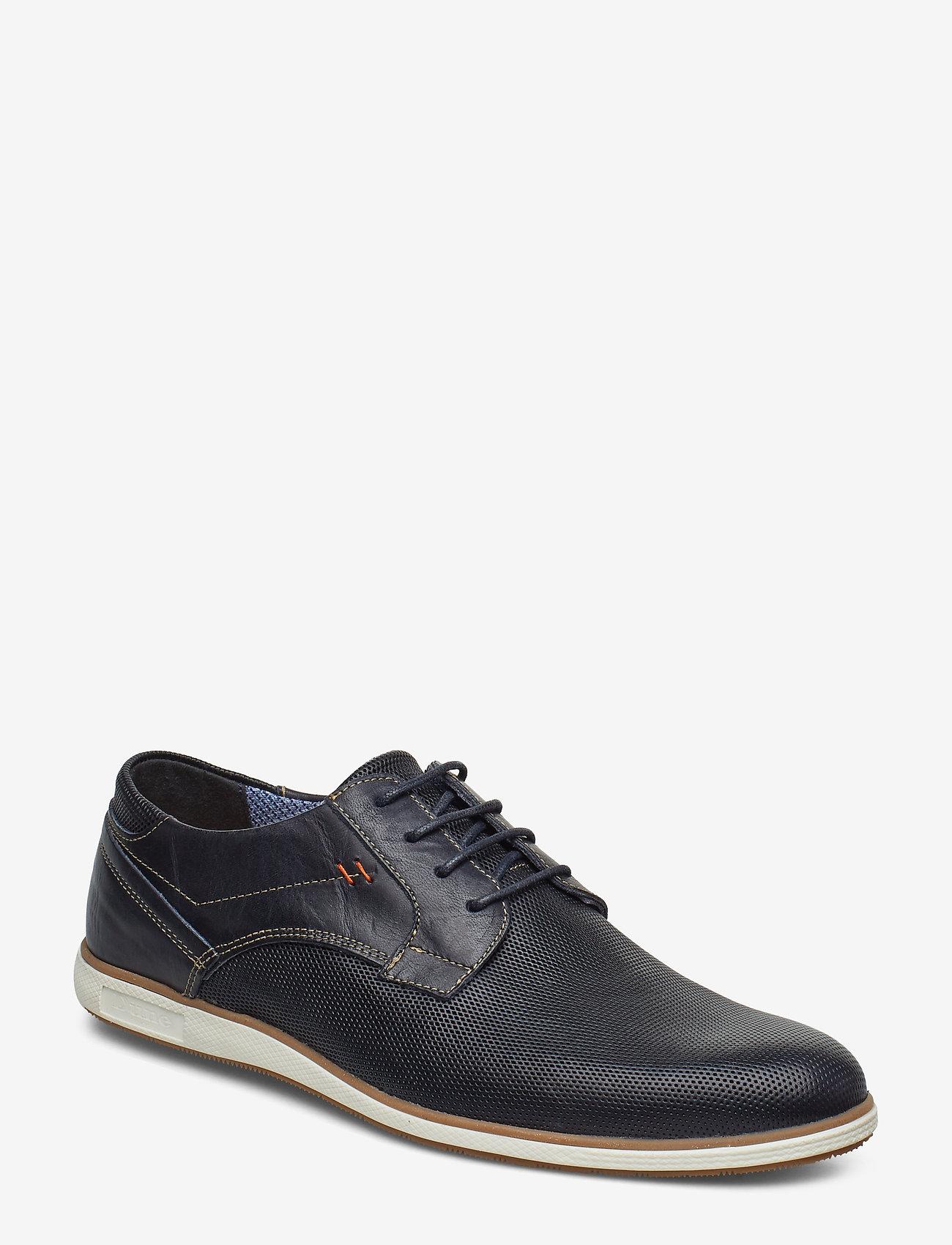 Dune London - BAMFIELD - low tops - navy-leather