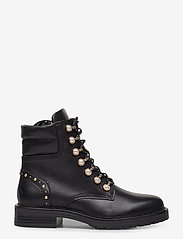 Dune London - Pearley - wysoki obcas - black leather - 1