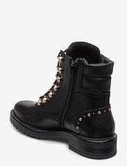 Dune London - Pearley - wysoki obcas - black leather - 2