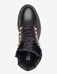 Dune London - Pearley - wysoki obcas - black leather - 3
