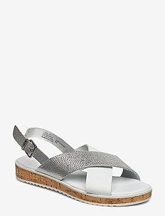 LORDE - platta sandaler - white