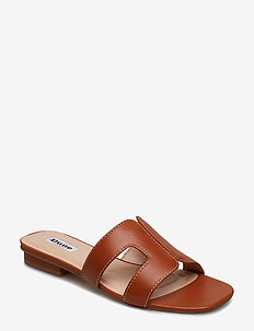 LOUPE - platta sandaler - tan-leather