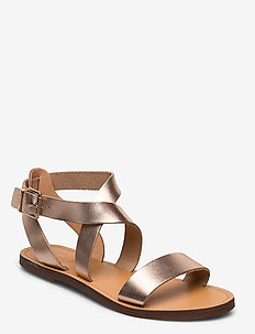 Leelah - platta sandaler - rose gold-leather