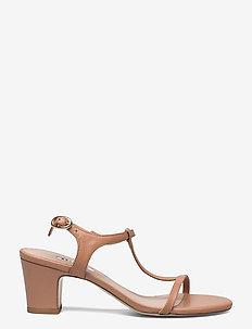 Jaycy - högklackade sandaler - tan leather