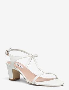 Jaycy - sandały na obcasie - white leather