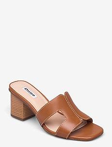 Jupe - högklackade skor - tan leather