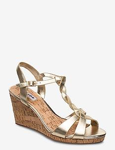KOALA - wedges - gold-plain_leather