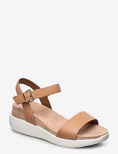 Kyoto - högklackade sandaler - caramel-leather