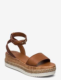 Krest - høyhælte sandaler - tan-leather