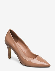 Anna - klassiske pumps - caramel-patent_synthetic
