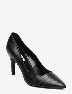 Anna - klassiske pumps - black synthetic