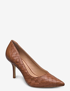 Bowe - klassiska pumps - tan leather