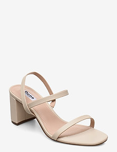 Marta - högklackade sandaler - ecru-leather