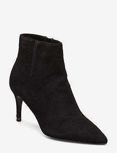 OBSESSED - ankelstøvletter med hæl - black-suede