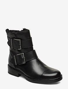 QUALIFY - flate ankelstøvletter - black