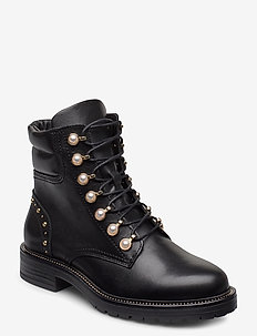 Pearley - ankelboots med klack - black leather
