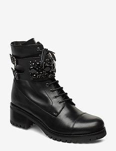 PASADENA - flate ankelstøvletter - black-leather