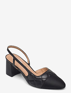 Crofts - slingbacks - black plain leather