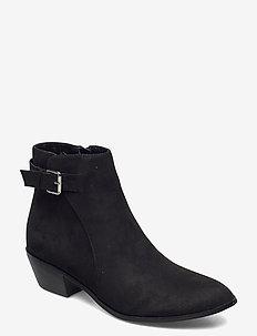 PILAS - ankelstøvler med hæl - black