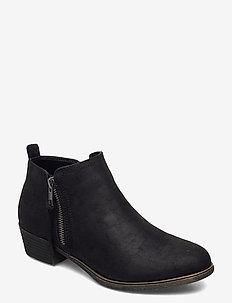 POPEE - ankelstøvler med hæl - black